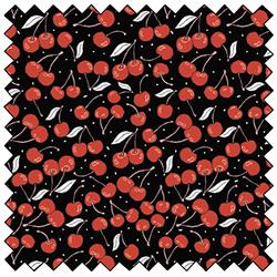 """Cherries - BLACK - 44"""" x 13.7 M"""