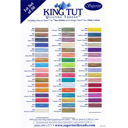 King Tut Quilting Thread Color Card #1