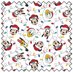"Mickey Mouse Festive Lights - WHITE - 44"" x 13.7 M"
