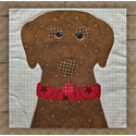 Additional Images for Labrador Retriever (Chocolate) Precut Fused Appliqué Kit