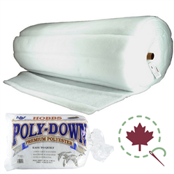 "Poly-down® Bonded Batting - 108"" x 30 YDS"