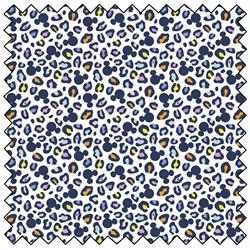 "Mickey Mouse Ears Animal Print  - WHITE - 44"" x 13.7 M"