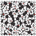 """Additional Images for Mickey Tossed Stack - WHITE - 44"""" x 13.7 M"""
