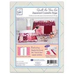 Zippity-Do-Done Cosmetic Bag - WHITE ZIPPER