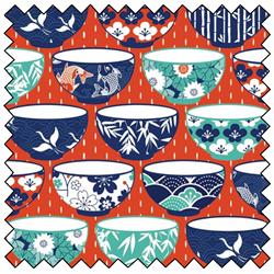 "Kyoto Rice Bowl - ORANGE - 44"" x 10 M"
