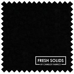 "Fresh Solids - BLACK - 44"" x 13.72 M"