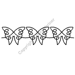 """Butterfly Border - 4"""" x 3 UNITS"""