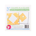 """Square in a Square Quilt Block Foundation Paper - 3"""""""