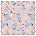 """Additional Images for Eeyore Heart Toss - BLUSH - 44"""" x 13.7 M"""