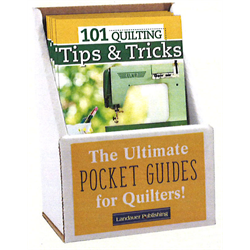 101 Quilting Tips & Tricks Pocket Guide Display with 6 Books
