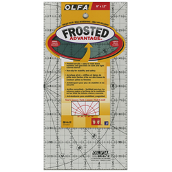 Frosted Acrylic Olfa Ruler 6 x 12 - The Traveler