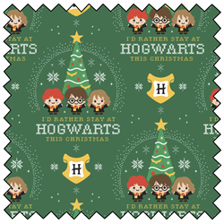 "Harry Potter Hogwarts Holiday - GREEN - 44"" x 13.7 M"