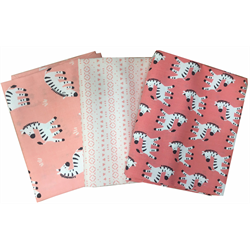 Peek-A-Boo! - CORAL - Fat Quarter Bundle (3)
