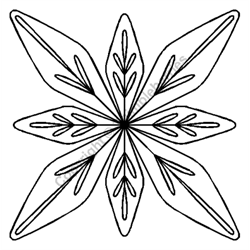 """Leaf Bouquet Block - 7 1/2"""""""