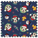 "Additional Images for Mickey Mouse Joy to the World - NAVY - 44"" x 13.7 M"