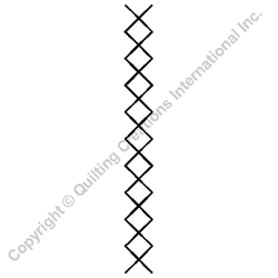 """Crosshatch Border  - 1"""" Stencil x 3 UNITS"""