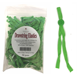 Drawstring Mask Elastics - 50 PCS - GREEN