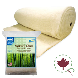 "Nature's Touch Bamboo Blend Batting - 96"" x 30 YDS"