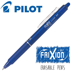 Frixion Clicker (.7) Heat Erase Pen - BLUE