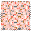 "Scattered Geo - BLUSH PINK - 44"" x 10 M"