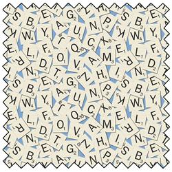 """Scrabble Tile Toss - MULTI - 44"""" x 13.7 M"""