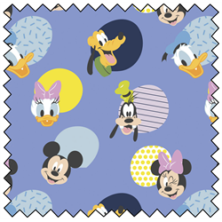 """Mickey Mouse Hello Memphis - PERIWINKLE - 44"""" x 13.7 M"""