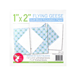 "Flying Geese Quilt Block Foundation Paper - 1"" x 2"""