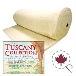 """Tuscany Silk Batting - ROLL - 96"""" x 30 YDS"""