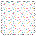 """Additional Images for Retro Shapes - WHITE -  44"""" x 13.7 M"""