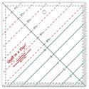 Triangle Square Up Ruler - 6.5""