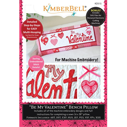 Be My Valentine - Bench Pillow Machine Embroidery CD