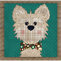 Additional Images for Cairn Terrier (Tan) Precut Fused Appliqué Kit