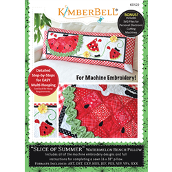 Slice of Summer Watermelon - Bench Pillow Machine Embroidery CD