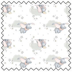 "Dumbo Sentimental - GREY - 44"" x 13.7 M"