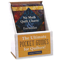 No Math Quilt Charts & Formulas Display with 6 Books