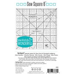 "Sew Square 6"" Ruler"
