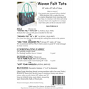 Additional Images for Woven Felt Tote