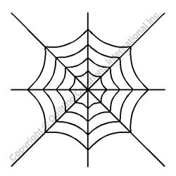"Spider Web Block - 8"" Stencil x 3 UNITS"