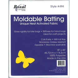 """Moldable Heat Activated Batting - WHITE - 18"""" x 45"""""""