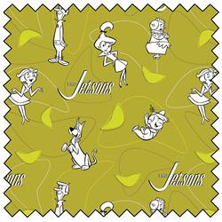 "Jetsons Line Art - GREEN - 44"" x 13.7 M"