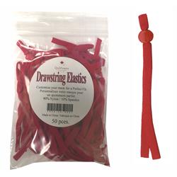 Drawstring Mask Elastics - 50 PCS - RED