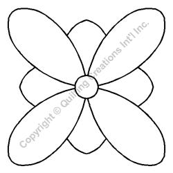 "Flower - 5"" Stencil x 3 UNITS"