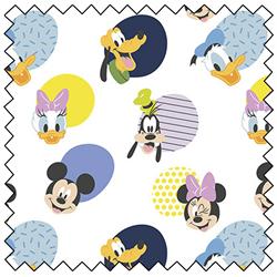 "Mickey Mouse Hello Memphis - WHITE - 44"" x 13.7 M"