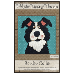 Border Collie Precut Fused Appliqué Kit