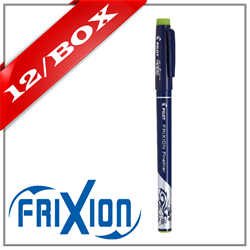 Frixion Fineliner Felt Marker - LIGHT GREEN x 12 UNITS