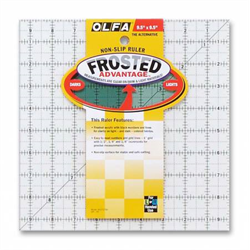 Frosted Acrylic Olfa Ruler 9.5 x 9.5 - The Alternative