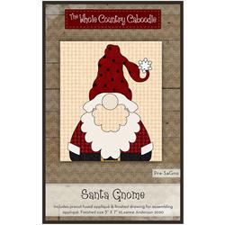 Santa Gnome Precut Fused Appliqué Kit