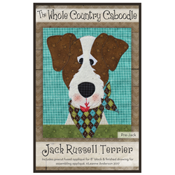 Jack Russell Terrier Precut Fused Appliqué Kit