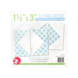 "Flying Geese Quilt Block Foundation Paper - 1.5"" x 3"""