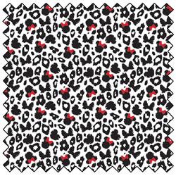"""Minnie Leopard Print - BLACK - 44"""" x 13.7 M"""
